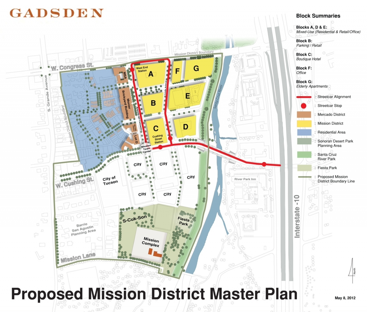 What is the status of the downtown properties west of I-10?