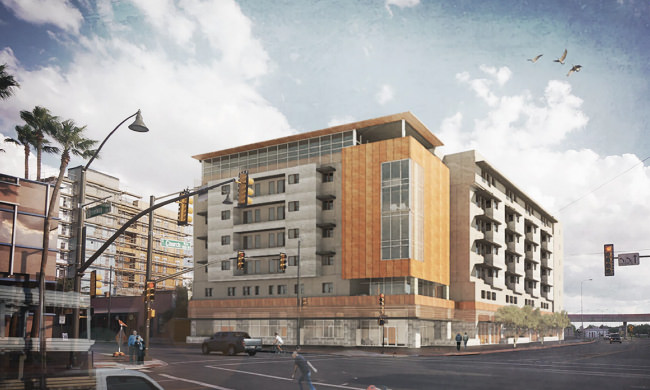 7 story low income senior housing building underway downtown for Alf hotel downtown