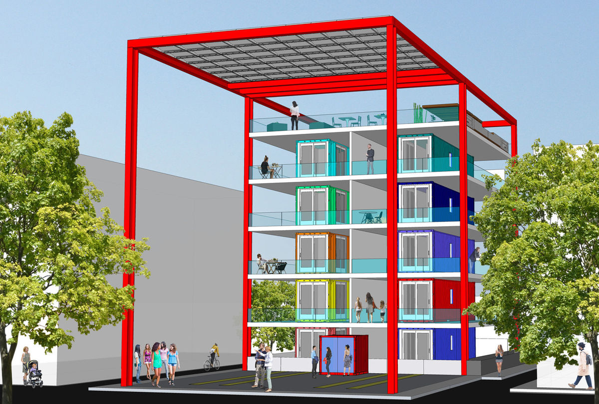 Stackhouse shipping container project planned near downtown for Projects of houses