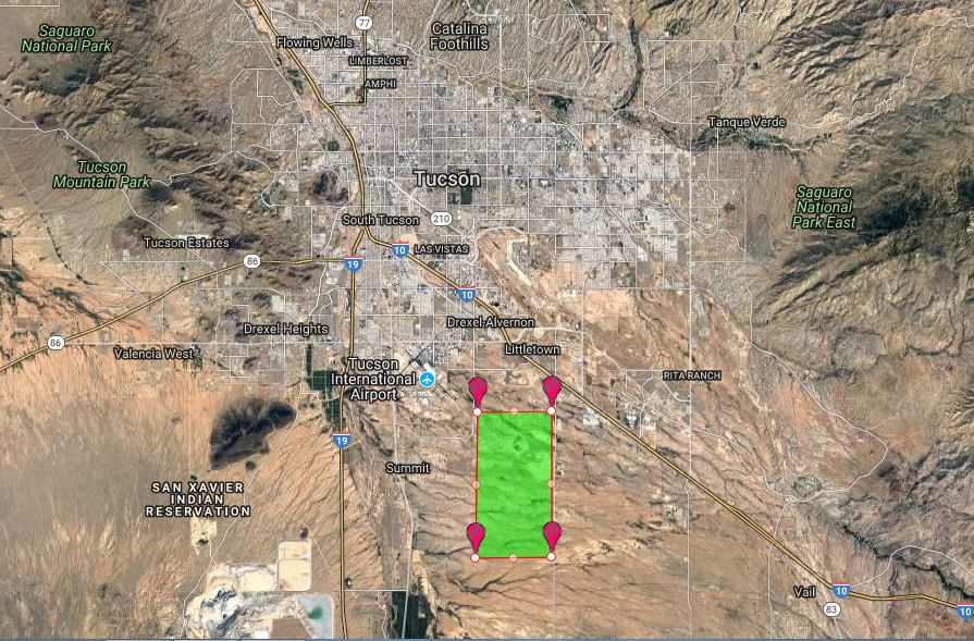 How Much Land Would Be Required To Power Tucson Solely